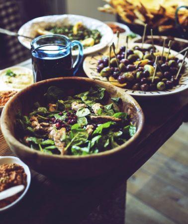 mediterranean-lunch-on-table-in-kitchen